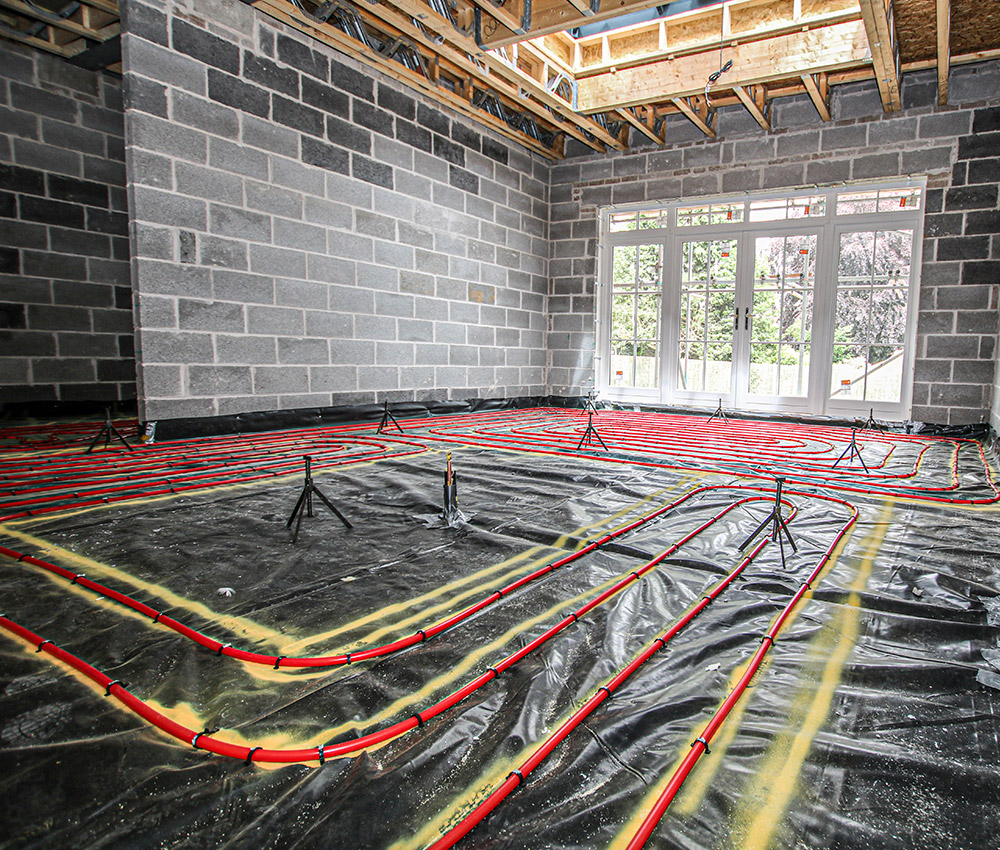 underfloor heating installation from Dixon MEP